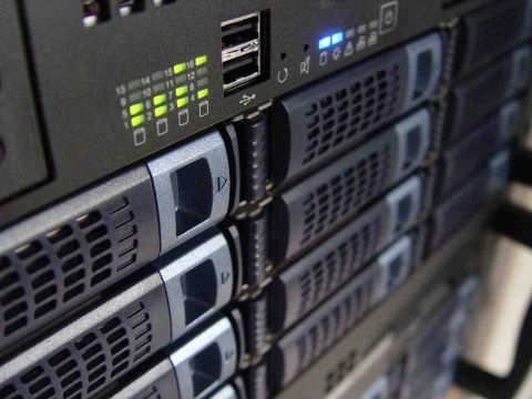 Enterprise-grade servers used for website hosting at DPS Computing